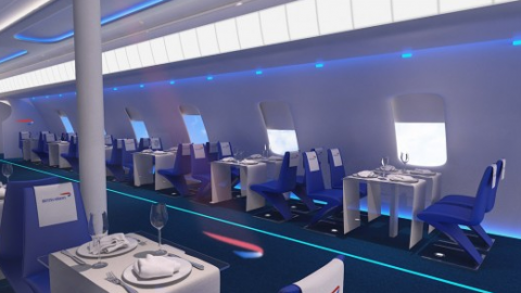Flight BA2012: British Airways pop-up restaurant