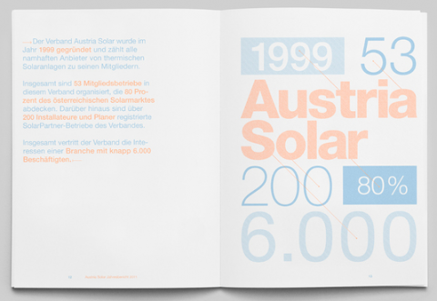 Solar energy company delivers its annual report by direct sunlight