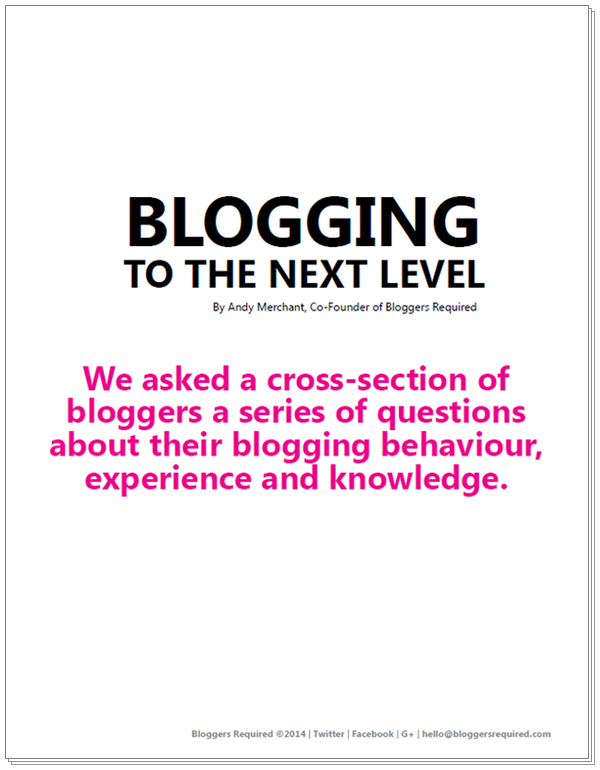 Blogging to the Next Level