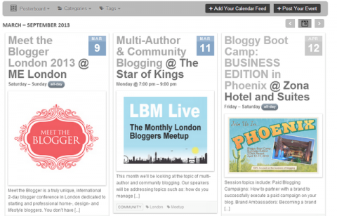 Add your blogging events to the Bloggers Required blogging events calendar