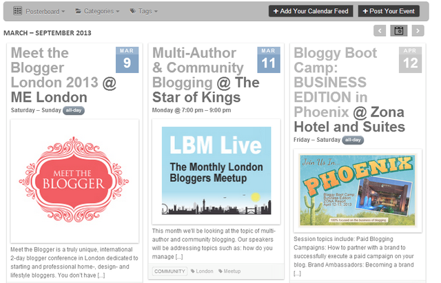 Bloggers Required Blogging Events Calendar