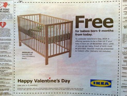 IKEA Valentines day stunt